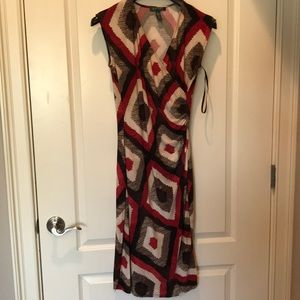 Sleeveless Printed Dress.